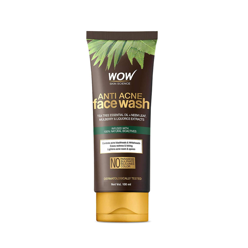 WOW Skin Science Anti Acne Face Wash For Men