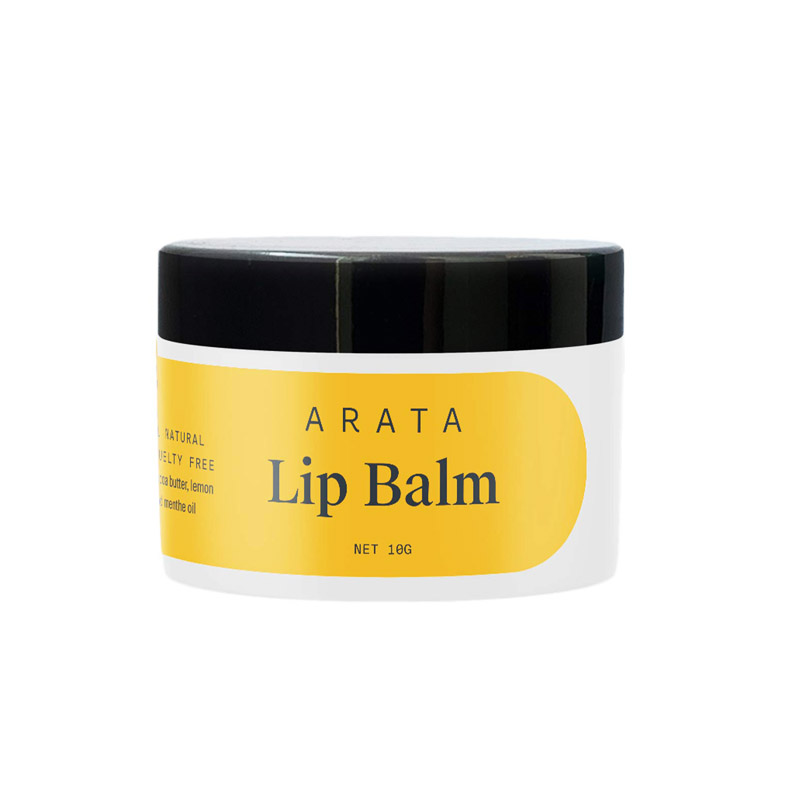 Arata Natural Lip balm For Dry, Chapped Lips