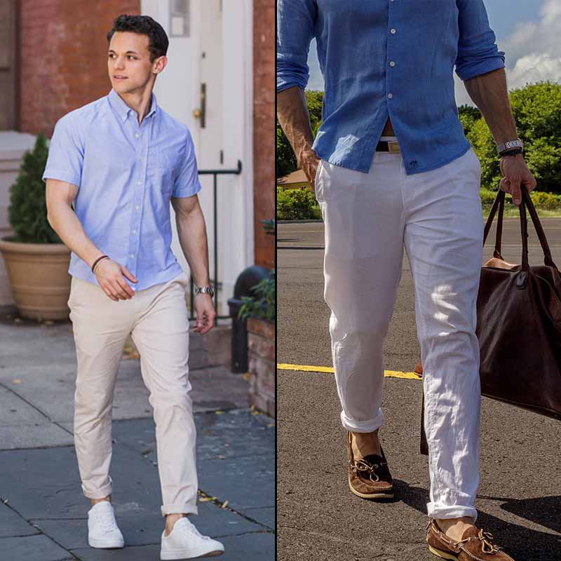 Linen and cotton trousers are best to wear in India in summers