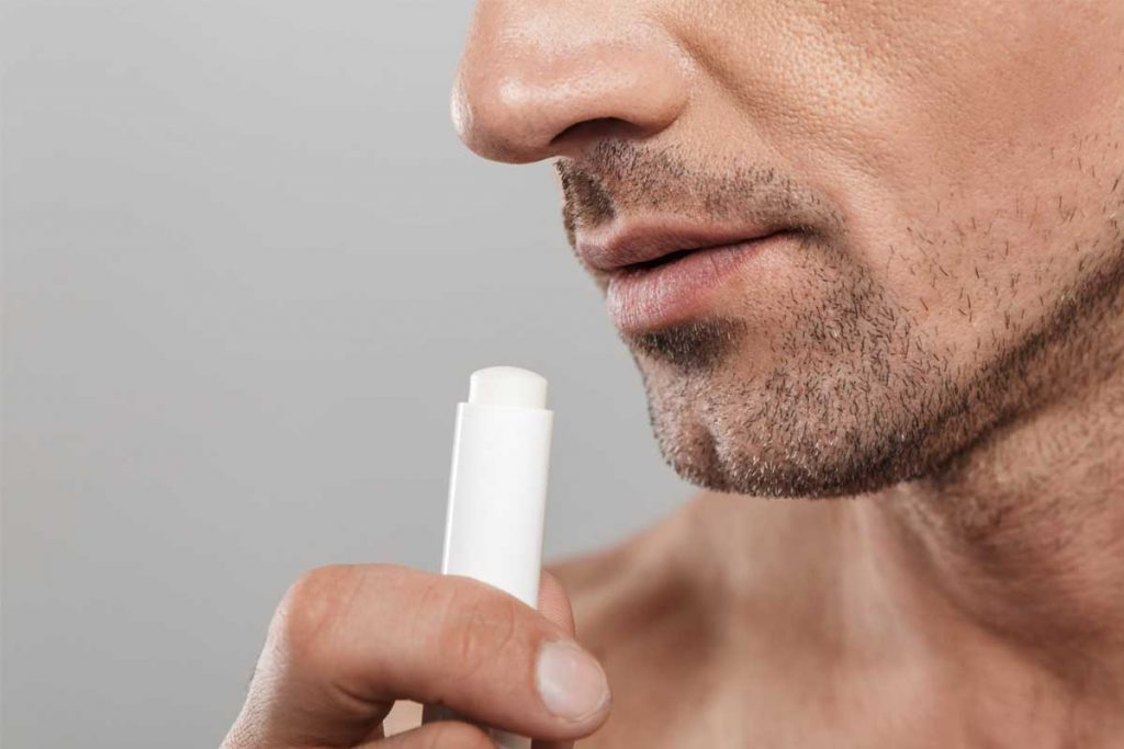 What are the benefits of using a lip balm for men