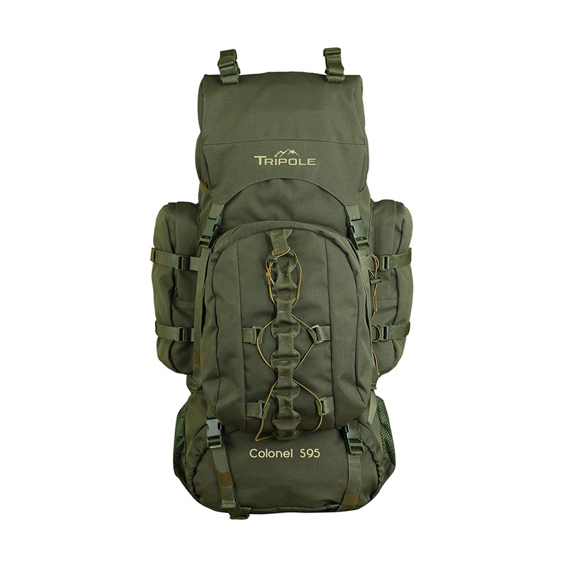 best travel backpacks for hiking  - Tripole Colonel 95 litres Rucksack Detachable Day Pack