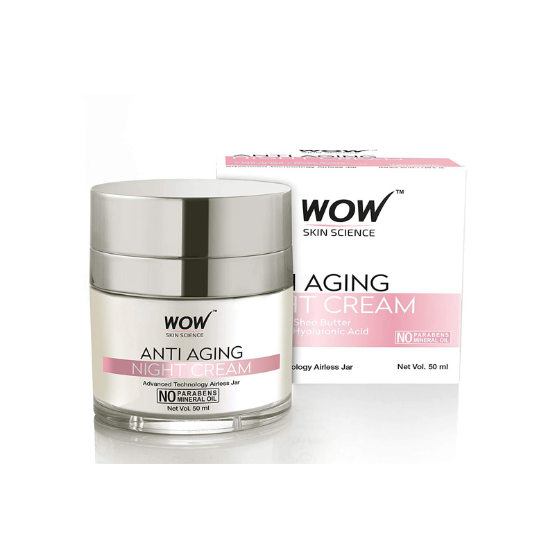 WOW Anti Aging No Parabens & Mineral Oil Night Cream