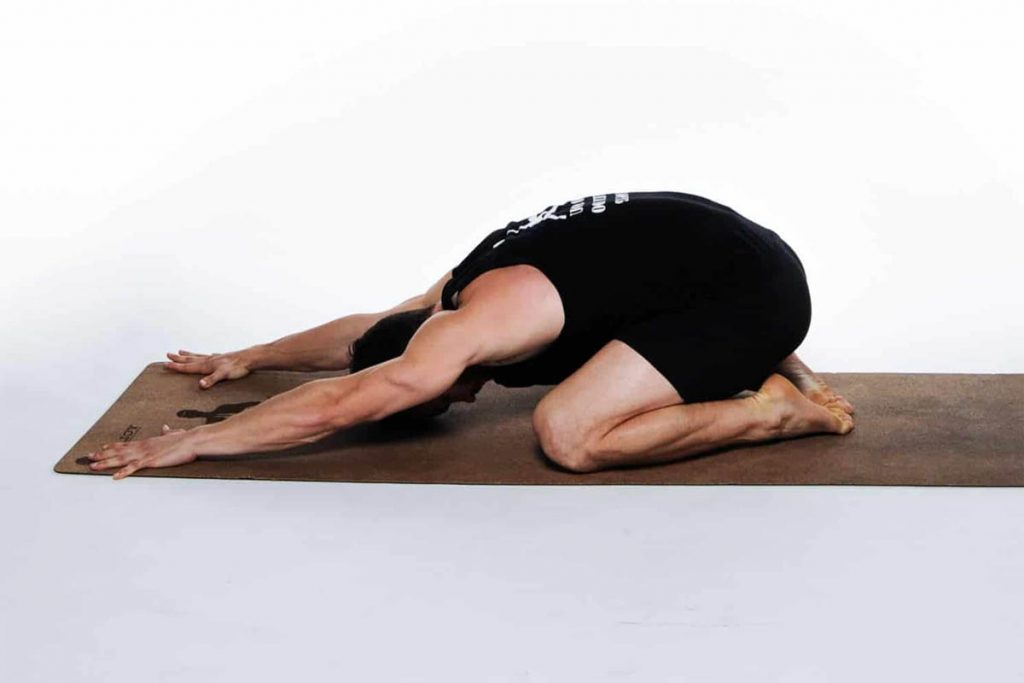 Child's Pose is very effective for back and neck pain