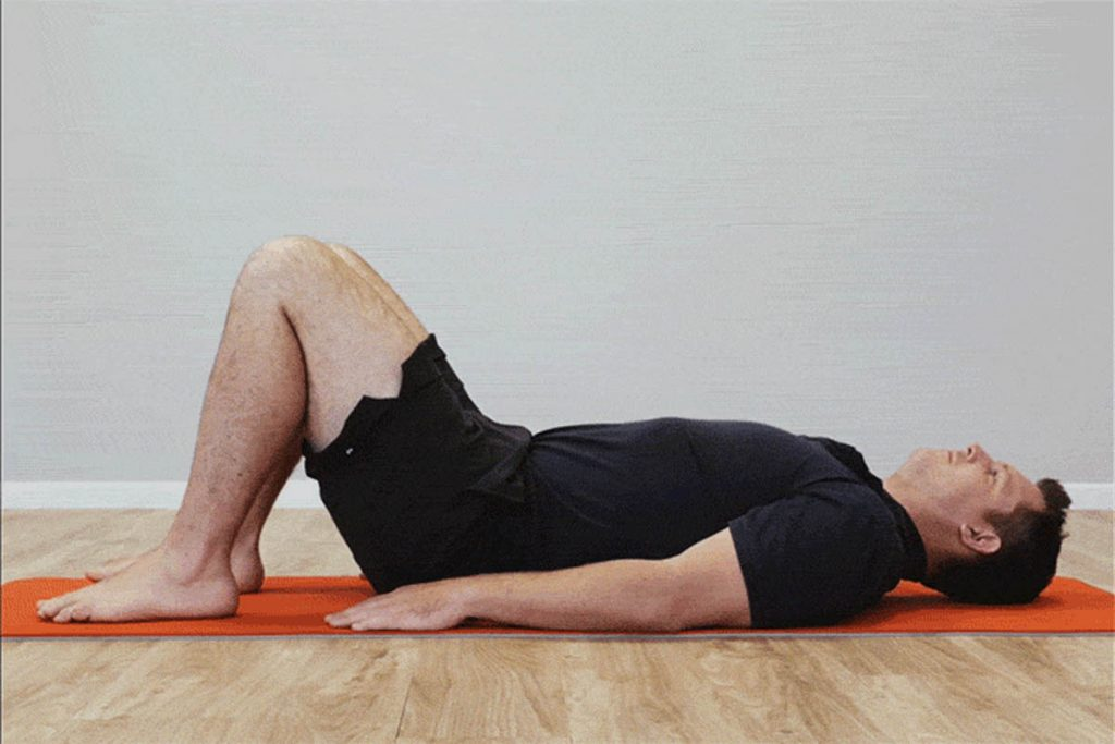 Glutes Squeeze exercise helps to get a good posture in men