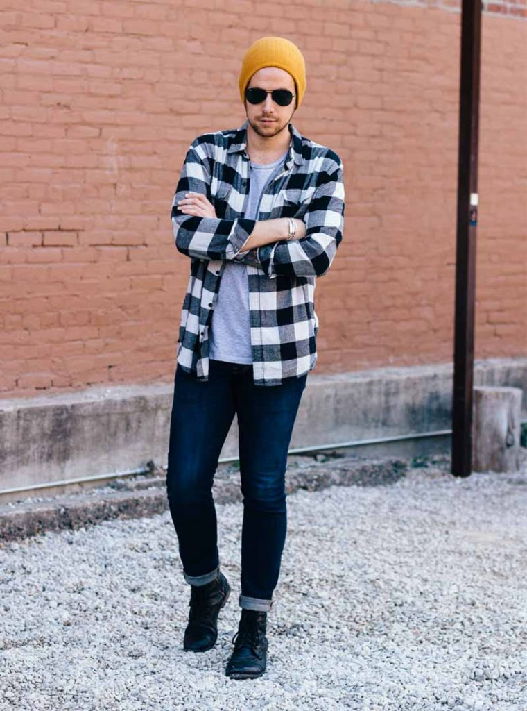 Guys T-shirt Fashion In College