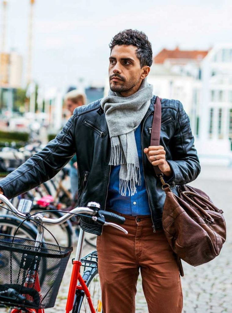 Men Layering Fashion For College In Winter