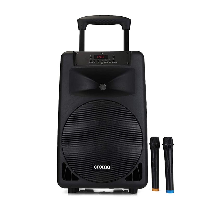 Croma 240 Watts Trolley Karaoke Bluetooth Party Speaker