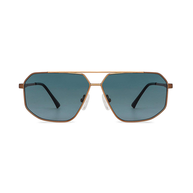 John Jacobs Gold Green Aviator UV Protected Sunglasses For Men