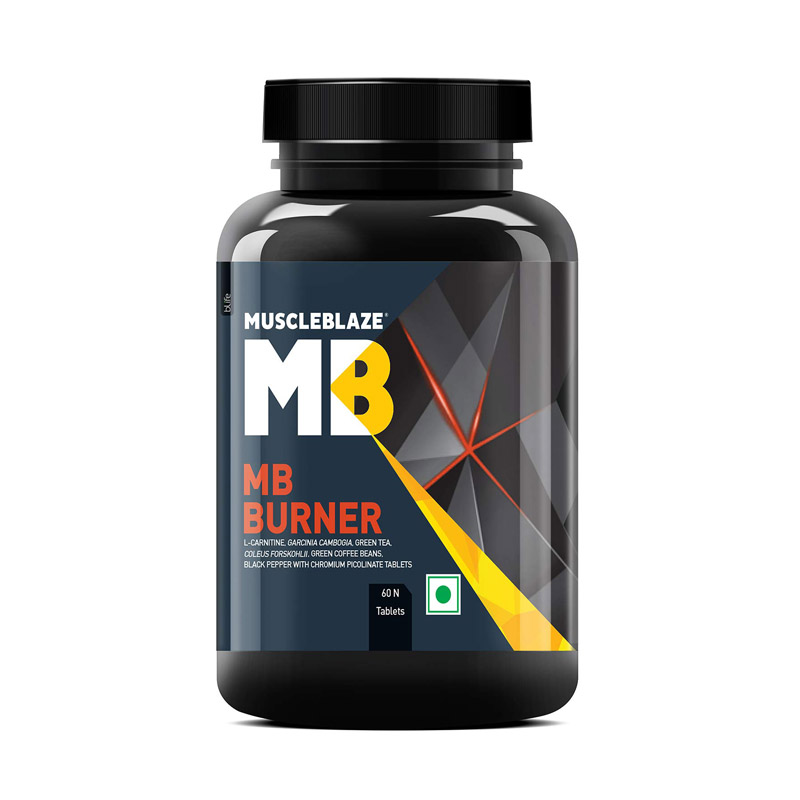 best fat burners for men in India - MuscleBlaze Fat Burner With Garcinia, Green Tea & Coffee Bean Extracts