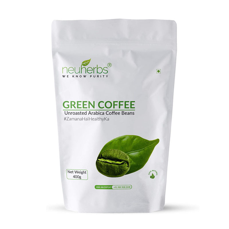 best fat burners for men in India - Neuherbs Green Coffee Beans Natural Immunity Booster & Weight Loss Partner