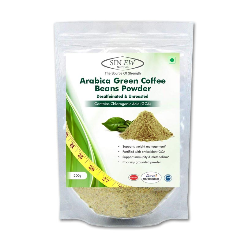best fat burners for men in India - Sinew Nutrition Green Coffee Beans Powder For Weight Management