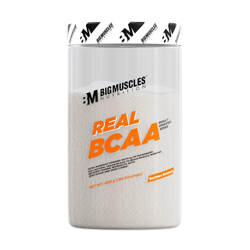 best plant-based BCAA powder - Bigmuscles Nutrition Real BCAA - 100% Micronized Vegan, Muscle Recovery & Endurance BCAA