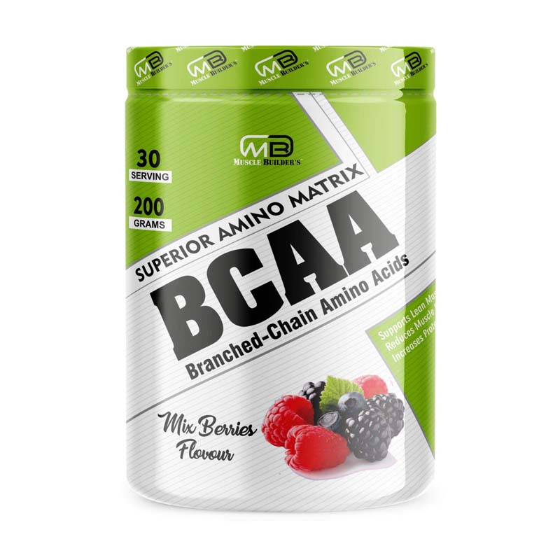 M B Muscle Builder's BCAA - 100% Micronized Vegan, Muscle Recovery & Endurance BCAA