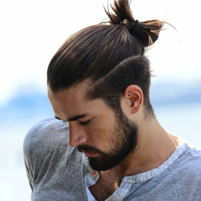 Best date night hairstyles for men - Man Bun Or Knot Style