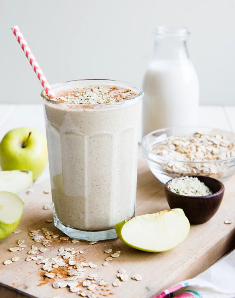 homemade protein shakes for muscle building - Apple And Oatmeal Protein Shake