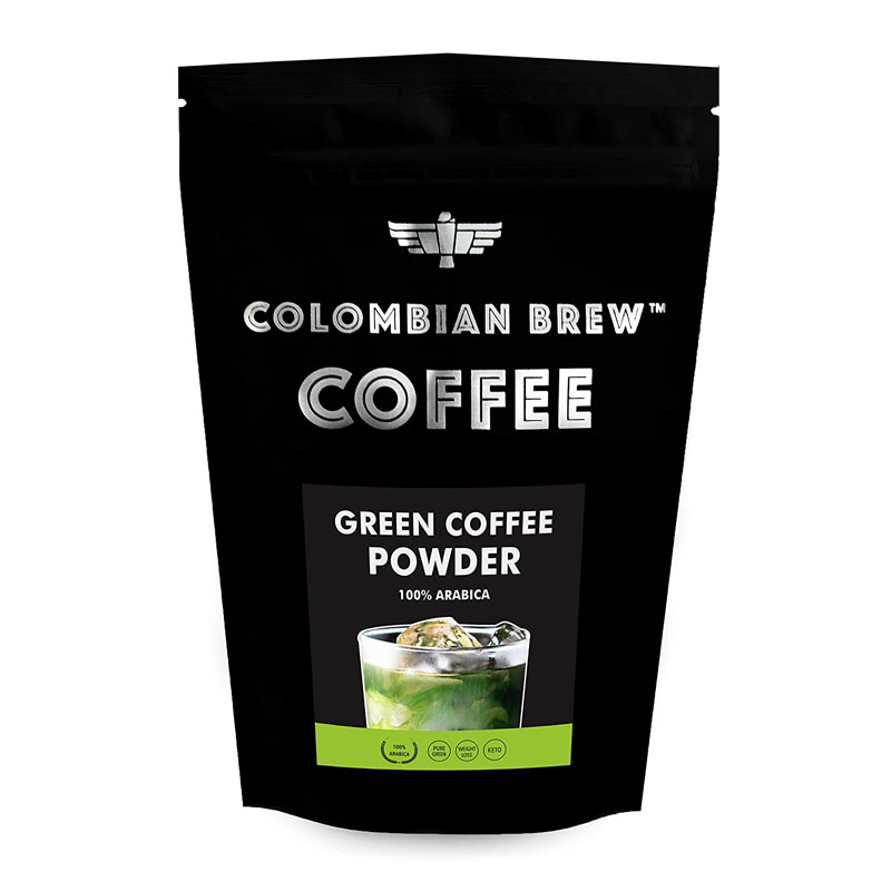 Colombian Brew Coffee 100% Arabica Green Coffee Powder For Weight Loss