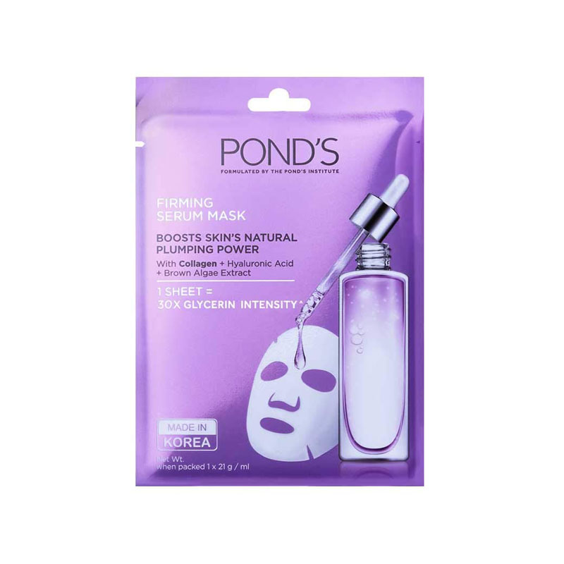 best sheet masks in India - POND'S Skin Firming Serum Mask With Hyaluronic Acid