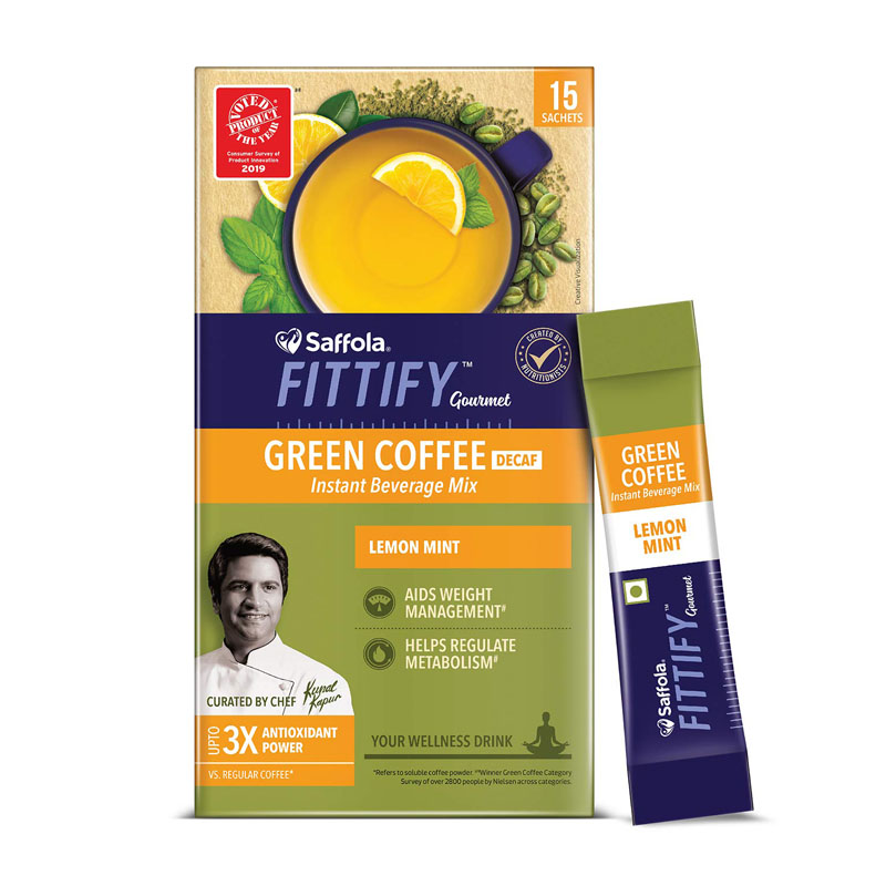Saffola FITTIFY Gourmet Green Coffee Mix For Weight Management