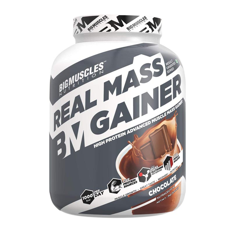 best mass gainer for beginners in India - Bigmuscles Nutrition Real Mass Gainer