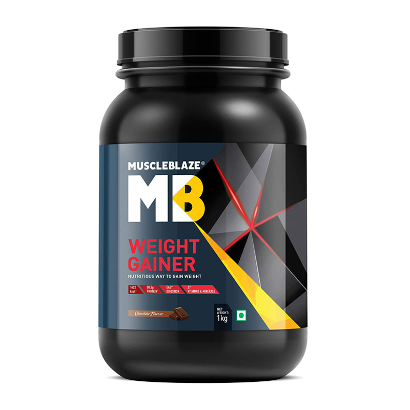 best mass gainer for beginners in India - MuscleBlaze Weight Gainer with Added Digezyme
