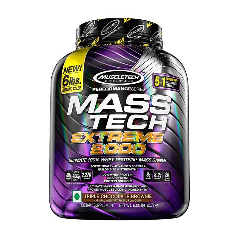 best mass gainer for beginners in India - Muscletech Performance Series Mass Tech Extreme 2000