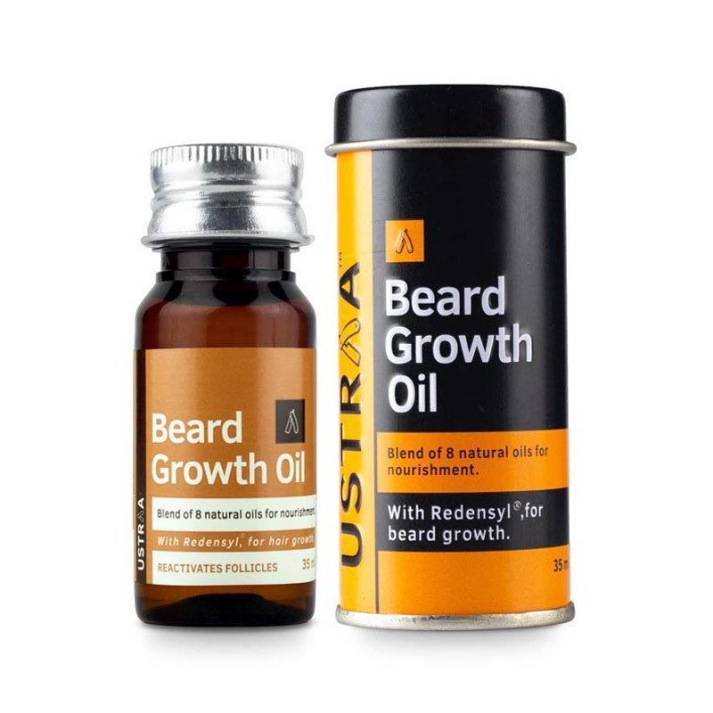 best beard growth oil in India - Ustraa Beard Growth Oil With Redensyl & 8 Natural Oils
